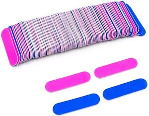 Double Sided Mini Professional Nail Files,Buffer, Filer,180/240 Grit Disposable