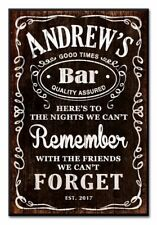 PERSONALISED RETRO STYLE PUB BEER BAR WOODEN WALL SIGN GIFT PRESENT LANDLORD.