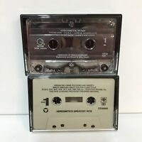 Vintage Aerosmith Cassette Tapes Lot of 2 Pump Greatest Hits Classic Hard Rock
