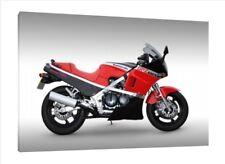 KAWASAKI GPZ600R - 30x20 pulgadas lienzo enmarcado cuadro bicicleta clásico de impresión
