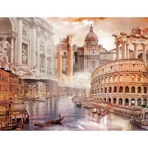 Fototapete Italien Rom Venedig Vliestapete Braun Wohnzimmer Schlafzimmer Modern