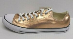 Converse Size 10.5 Gold Metallic Sneakers New Mens Shoes