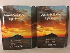 LOT of 2~LIMITED EDITION Dolce & Gabbana  SUNSET IN SALINA EDT .06oz/ml SAMPLES