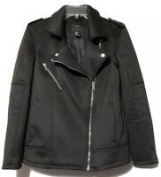 XXI Womens Black Zipper Moto Jacket Size Small