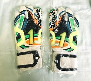 2 PAIRS of RINAT Original Classic Ergonomic Finger Protection Soccer Glove Sz:8