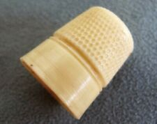 More details for vintage celluloid thimble 1930s ivorine cream early plastic sewing needlework