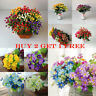 Artificial Flowers Daisy Outdoor Plastic Rose Bouquet Floral Wedding Home Decor