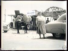 PHOTO ANCIENNE .1956 . ESPAGNE . COSTA DEL SOL .Rte MALAYA- MADRID. RESTAURANT