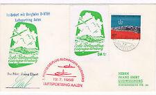 1958. Liechtenstein a Alemania. Sobre circulado con sello y tema planeadores