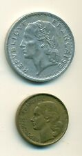 2 OLDER COINS from FRANCE - 5 & 20 FRANCS (BOTH 1950)