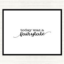 White Black Today Fairytail Quote Mouse Mat Pad