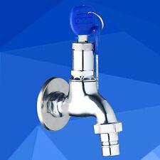 epak Garden outdoor Cold Water Tap Washer Faucet  Lock Chrome Polish Wall Mount