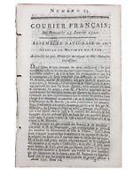 Pondicherry IN 1791 Mauritius Mahé India Dol Di Bretagna Rivoluzione Francese