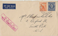 Stamps Australia RAAF cachet on cover Hadjimichalakis airmail to South Perth