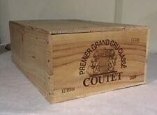1 Rare Wine Wood Crate Box Case PREMIER GRAND CRU CLASSÉ COUTET Vintage 4/19