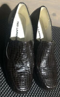 Ted Lapidus Womens Snakeskin Look Mid Wedge Heel Loafer Shoes U.K. Size 5 Gt Con