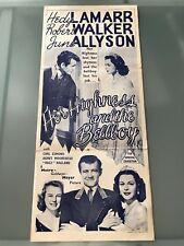 ORIGINAL DAYBILL POSTER 13x30: Her Highness and the Bellboy (1945) Hedy Lamarr