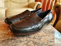 Gucci Mens Shoes Black Leather Loafers UK 6.5  US 7.5  EU 40.5