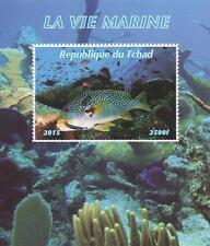 MARINE LIFE TROPICAL FISH OCEAN SEA CREATURE 2015 MNH STAMP SHEETLET