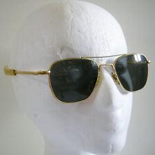 6455ceacd55 American Optical AO USA 23K Pilot Aviator Sunglasses Gray Lens 20  52 with  Case