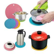 Silicone Trivet Mat Hot Pot Stand Black Heat Resistant Kitchen Non-Slip Pad G3A1