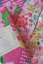 Pottery Barn Kids 4pc Nursery Set PIA Duvet Cover Crib Skirt, Sheet Valance Pink