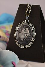 SPECIAL SAVE 50p./ LARGE  EDWARDIAN LOVERS CAMEO NECKLACE   [26/1/23]