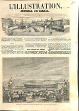 Bateau de Guerre Frégate Blindée Port Rade de Toulon France 1861 ILLUSTRATION