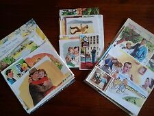 Vintage paper fathers family images of dads & kids children for craft cards