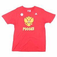 ADIDAS  Red Sports Short Sleeve T-Shirt Mens L
