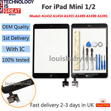 For APPLE IPAD MINI 1 & 2 LCD BLACK TOUCH SCREEN DIGITIZER IC CABLE REPLACEMENT