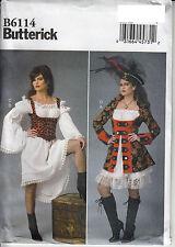 Pirate Wench Costume Dress Corset 14 - 22 Butterick Sewing Pattern Uncut 6114