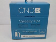 Cnd Velocity Deep C Curve White Nail Tips Several Sizes 50ct