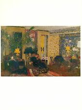 "1974 Vintage VUILLARD ""ROOM WITH THREE LAMPS"" DISTEMPER COLOR offset Lithograph"