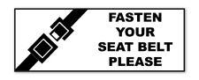 2 x allaccia la cintura di avvertimento AUTOADESIVO ADESIVI SAFETY Business