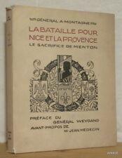 MONTAGNE La bataille pour Nice et la Provence arceaux signé numéroté illustré