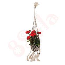 Dedicarmi al macramè con vasi di fiori pianta decorativa Hanger fatto a mano di fibra naturale Juta D NUOVO