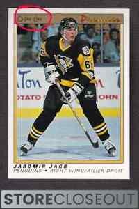 1990-1991 O Pee Chee Premier #50 Jaromir Jagr Rookie HOF RC Penguins Please Read
