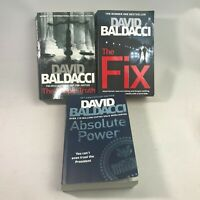 3 David Baldacci Books Bundle - Absolute power, The Fix,  The Simple Truth