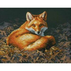 """Dimensions Counted Cross Stitch Kit Sunlit Fox 11"""" X 14"""" NEW 14 Count"""