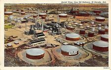 C66/ El Dorado Arkansas AR Postcard c30s Lion Oil Refinery Tanks