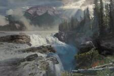 Phillip Philbeck Athabasca Falls Giclee on Canvas Grande Edition