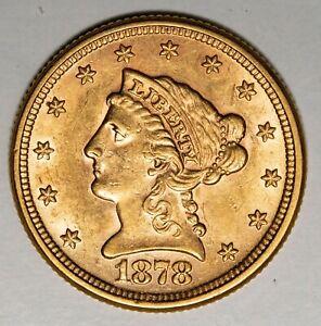 1878 $2.50 Liberty Gold Quarter Eagle Item#P13956
