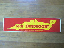 STICKER,DECAL REDT ZANDVOORT FASSON FORMULE ONE F1  LARGE STICKER 29 CM A