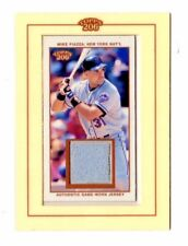 MIKE PIAZZA MLB 2002 TOPPS 206 RELICS JERSEY (NEW YORK METS,DODGERS,ATHLETICS)