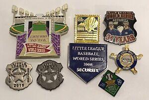 Lot of 8 LLWS Pins Little League World Series Official Security Gatekeeper Badge