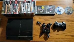 Playstation 3 Fat 60GB CECHA01 Backwards Compatible w/ 31 games TESTED WORKS