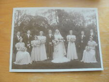 VINTAGE PHOTOGRAPH WEDDING LEVENSHULME IN PHOTOGRAPHERS CARD MANCHESTER