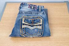 Monarchy 12 (27 X 30) Slim Boy's Jeans Medium Wash Flap Pocket Zip Jeans