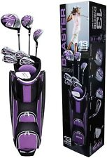 Woman Ladies Golf Set -13 Piece Graphite Driver And Steel Shafted With 4 Iron